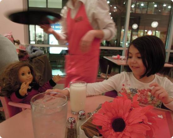 Dinner at the American Girl Bistro in Lynnwood, Washington