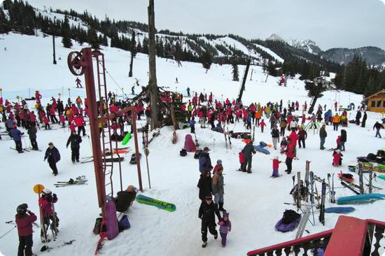 Chaotic mornings at Powderpigs are followed by a quiet lull as all the kids hit the slopes