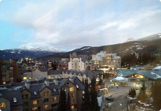 The view from our room at the Westin Resort and Spa in Whistler, BC