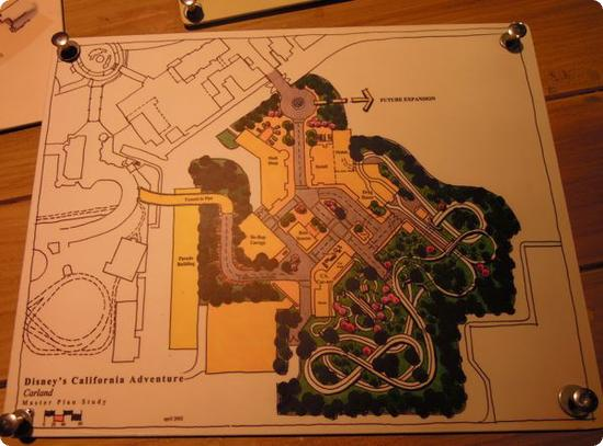 Map of Cars Land and Disney California Adventure