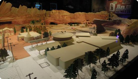 Cars Land Scale Model