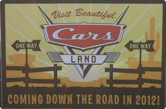 Cars Land Promo Sign