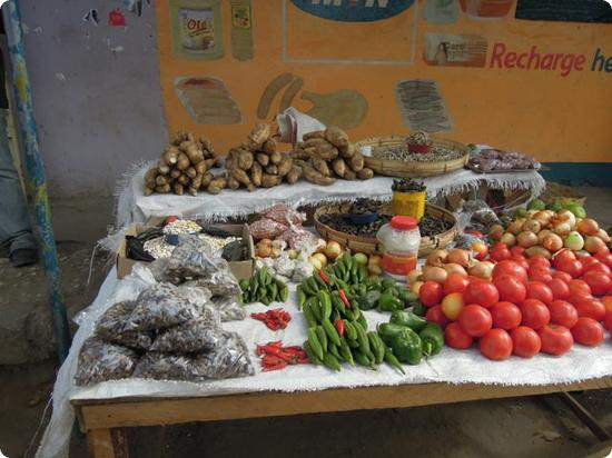 Fresh fruit and vegetables sold streetside