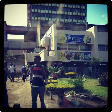 Leaving downtown Lusaka