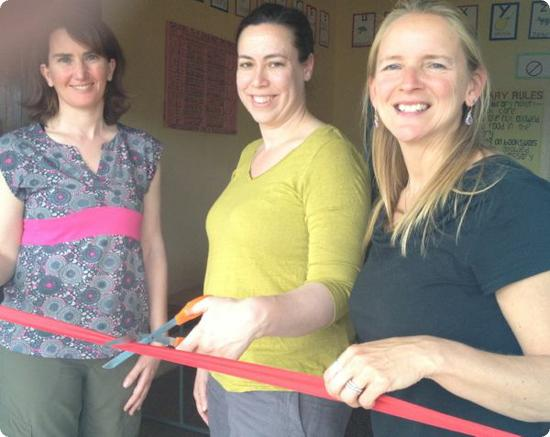 Spoiler alert - the libraries are real, and by the end of this day we cut a red ribbon