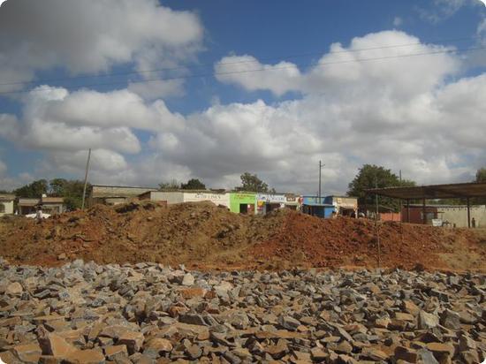Road construction in Lusaka, Zambia