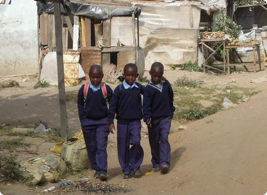 Kids headed to school