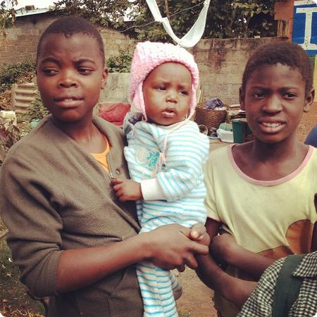Kids in the Lusaka's Garden District