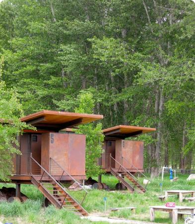 Mazama Rolling Huts (electricity and a kitchenette, but no running water)