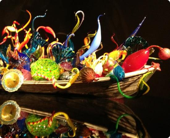 Float Boat Exhibit at the Chihuly Glass and Garden