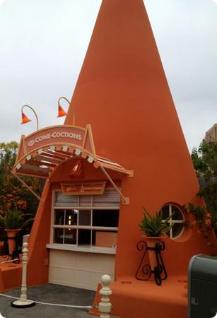 The Cozy Cone Motel has been reworked as a series of takeaway food stands
