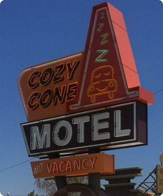 Cozy Cone Neon Sign at Carsland