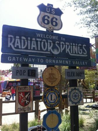 Entrance to Radiator Springs at Cars Land in Disney's California Adventure Park