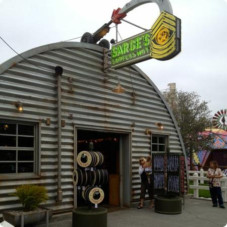 Sarge's Surplus Hut sells Cars Land Memorabilia