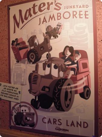 Here's a promo poster for Mater's Junkyard Jamboree
