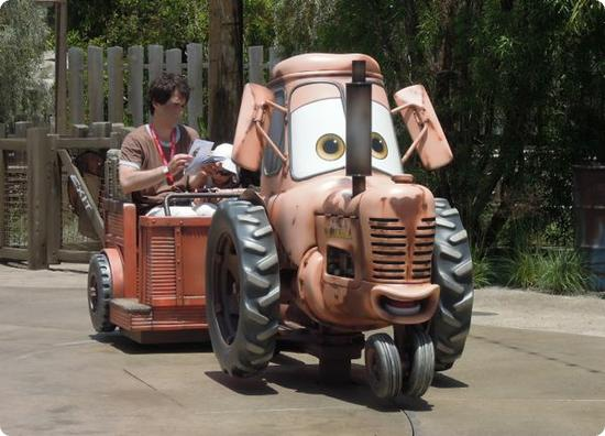 Tractor at Mater's Junkyard Jamboree in California Adventure Park