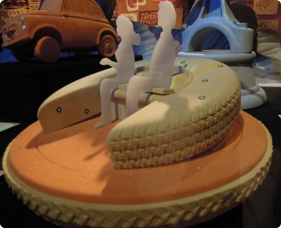 Model for Luigi's Flying Tires Ride
