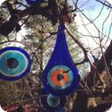 Turkish Evil Eye amulets at the Sleeping Lady Resort in Leavenworth