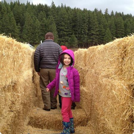 Darya just loves this hay maze