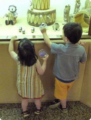Kids at the Indian Pueblo Cultural Center
