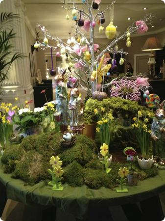 Easter display at the Balmoral Hotel in Edinburgh Scotland