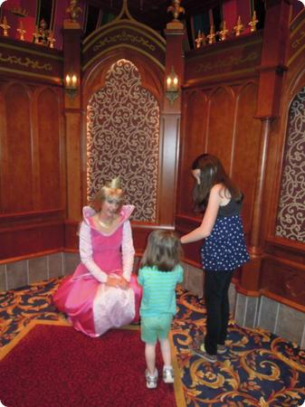 My niece gets a chance to get close to a *real* princess